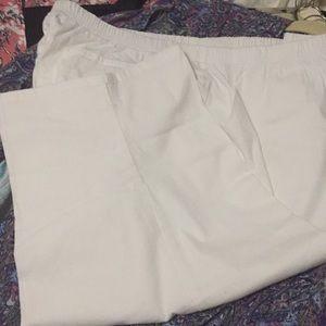 Ladies white jean capris